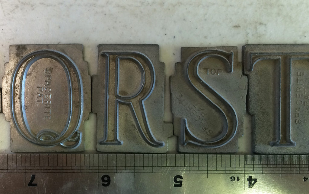 Spacerite Modified Roman Letters