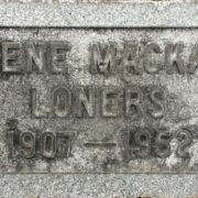 Example of a gravestone using the Spacerite Round Corner Gothic Alphabet.