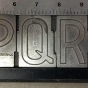Metal Spacerite letters