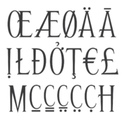 Sample characters and multilingual support for Special Roman 2 Condensed monument font.