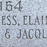 Example of handcut condensed roman on a memorial