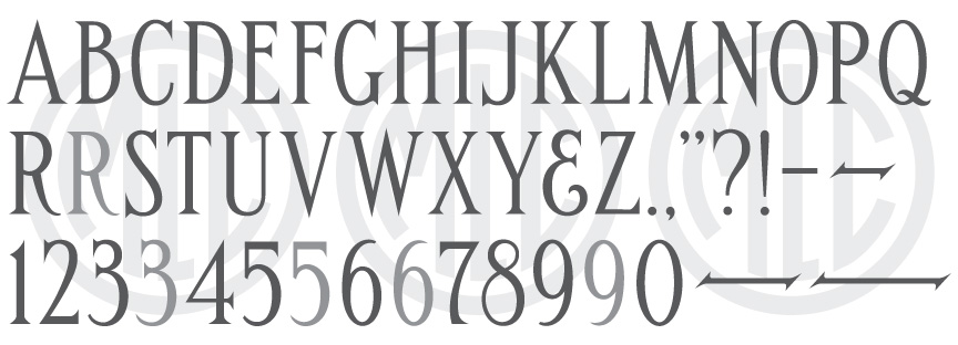 Handcut Condensed Roman Truetype OpenType monument font