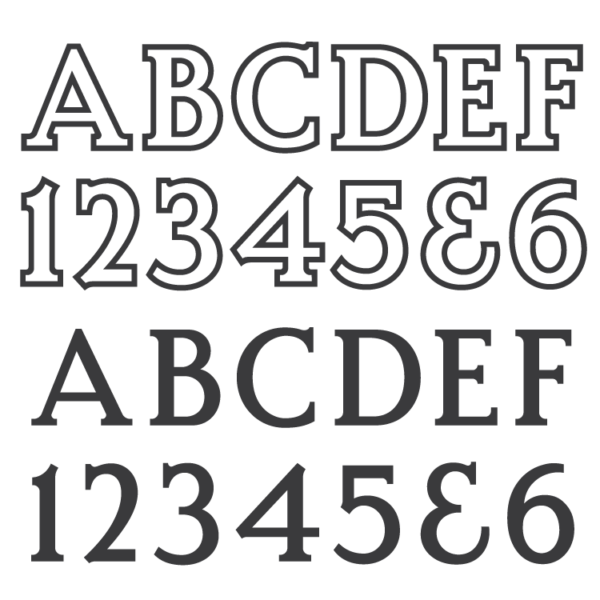 Roman Bold Font