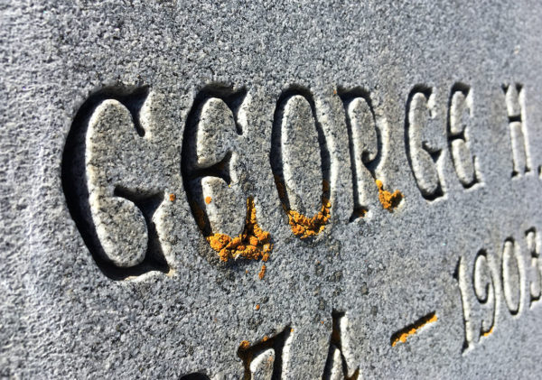 uncial gothic headstone lettering