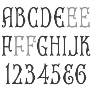 Spacerite Uncial Gothic Monument Font.