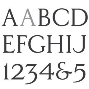 Floyd A. Holes Classic Roman Font.