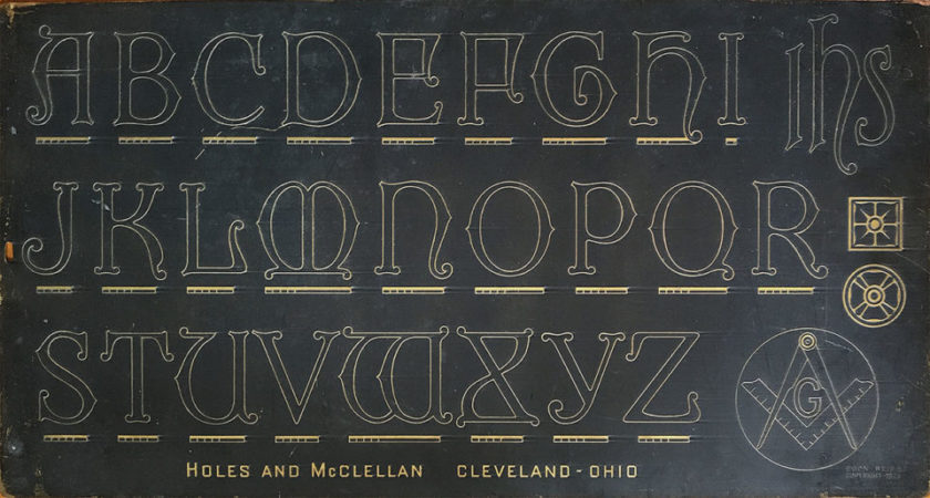 H&M Lombardic lettering plate No. 8