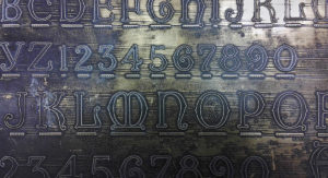 H&M lombardic lettering plate No. 7