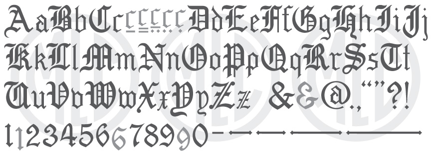 MLC Old English SR font