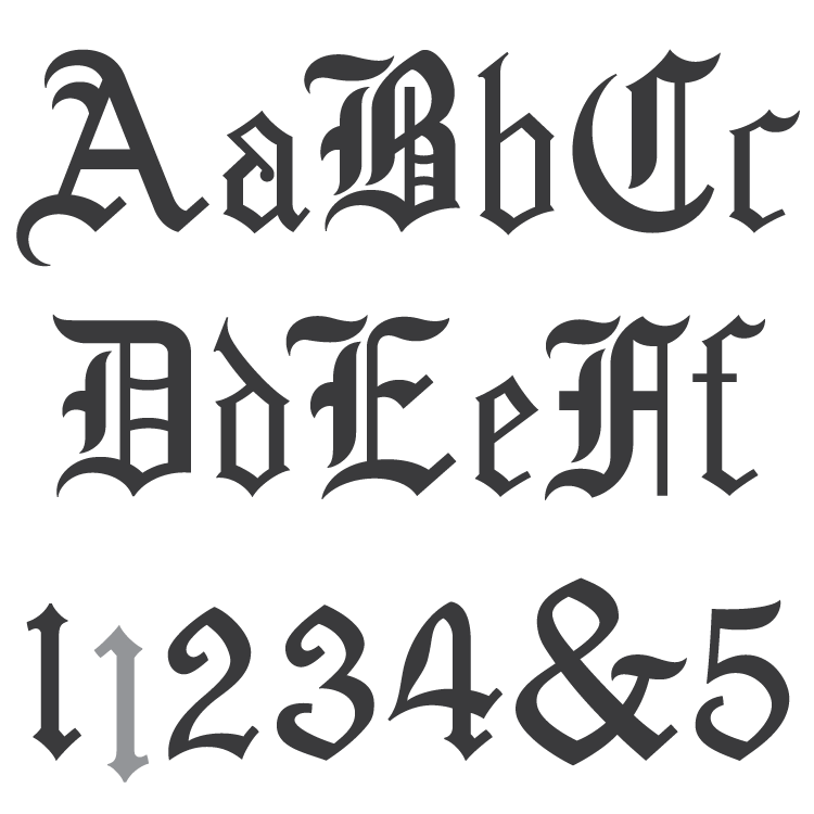 Spacerite Old English Font