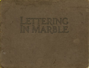 Lettering In Marble booklet cover