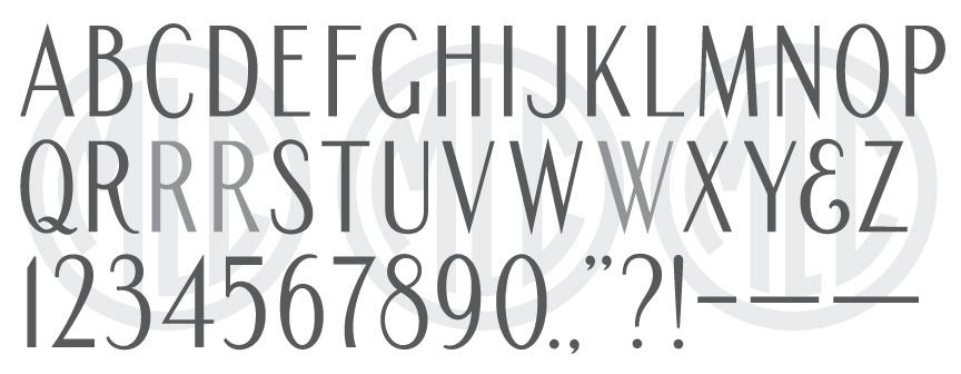 Signature Series Condensed Roman Sans font.