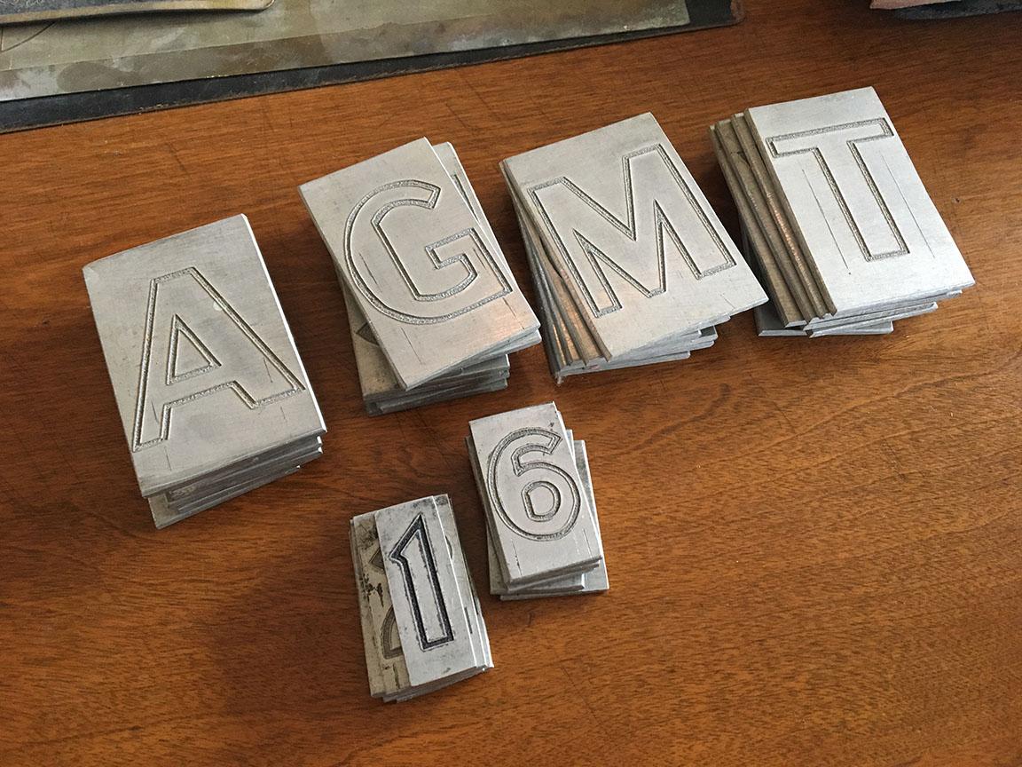 Delano Granite aluminum letters.