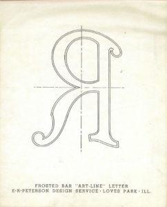 Art-Line letter 'R'