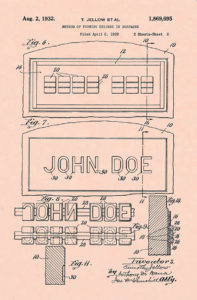 Timothy Jellow 1932 patent