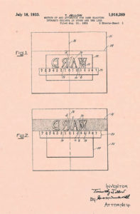 Timothy Jellow 1933 patent