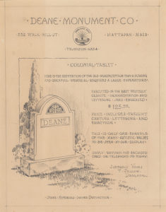 Deane Monument Advertisment