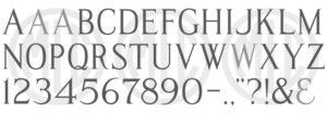 MLC Modified Roman SR font