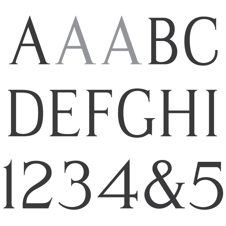Spacerite Modified Roman Font