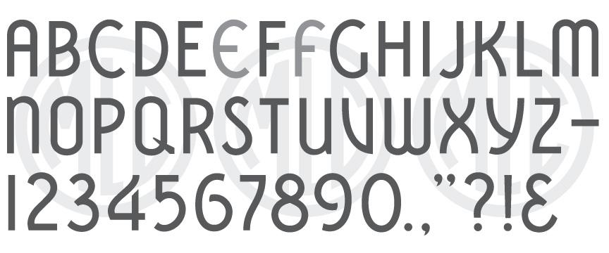 Spacerite Vermarco headstone font