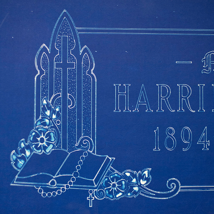 1950s Sand-Craft Services memorial design.