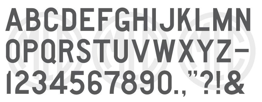 AISC Gothic Block Font