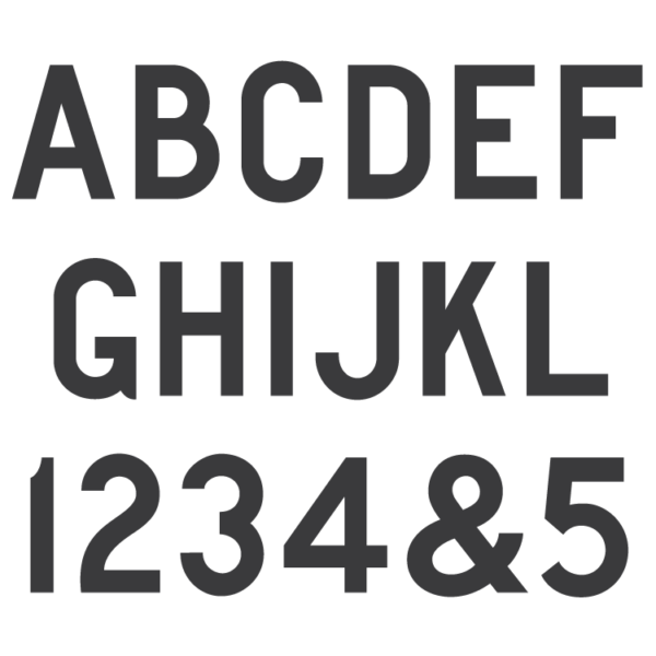 AISC Gothic Block monument font