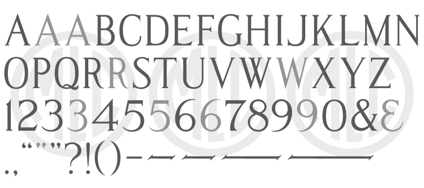 "Modified Roman ""Handcut"" TTF monument font"