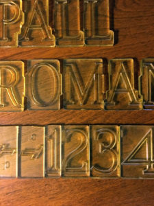 Plastic PALL Modified Roman Stencil Press Letters