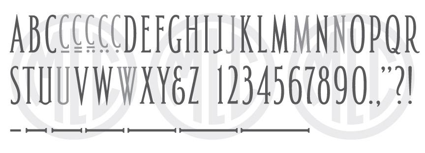 MLC Spacerite Panel Alphabet